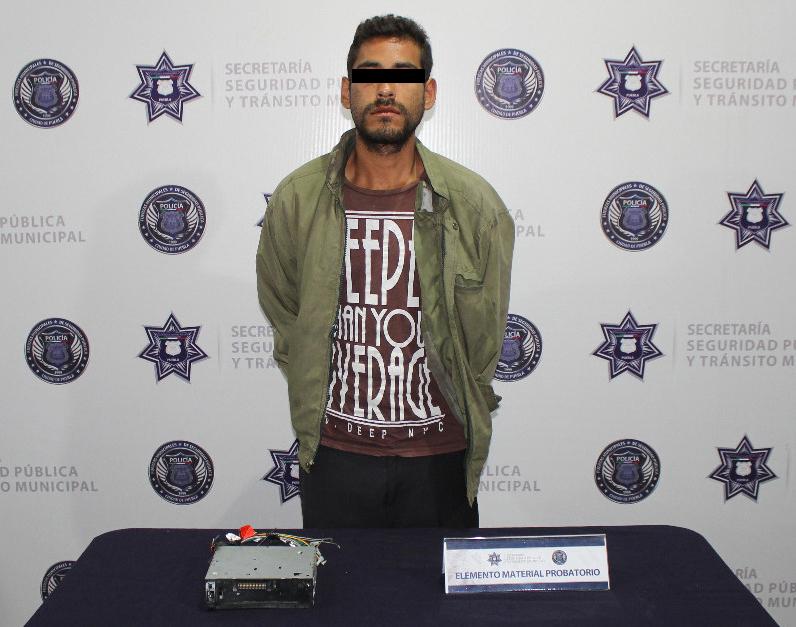 Fue atrapado tras robar autoestéreo en El Carmen