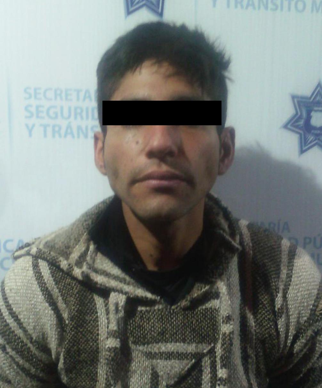 Policía Municipal detiene  a un hombre por robo a casa habitación