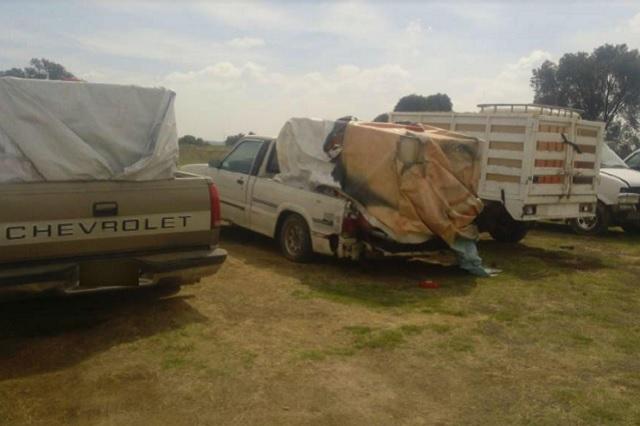 Recuperan 15 camionetas usadas para robar combustible en Puebla