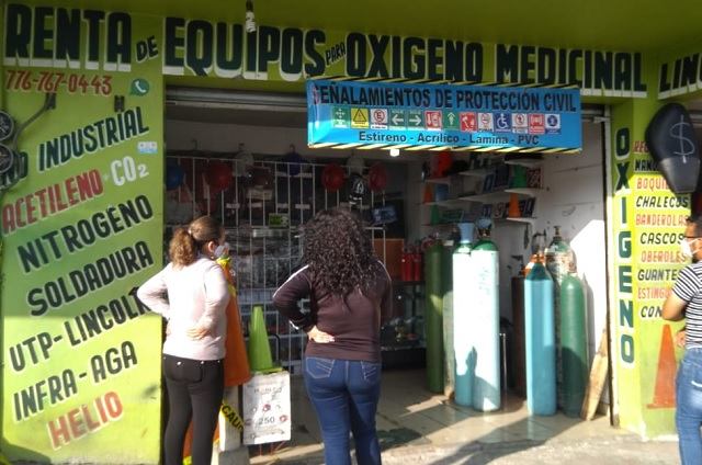 Desabasto de oxígeno provoca robos en Huauchinango