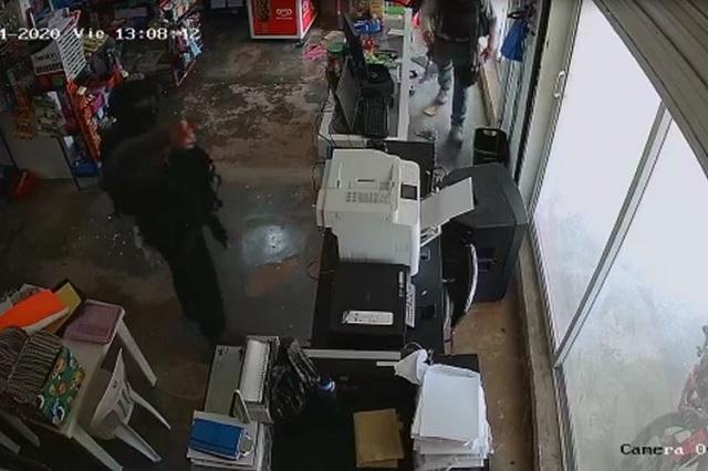 Captan robo a papelería en Veracruz por elementos de la Fuerza Civil