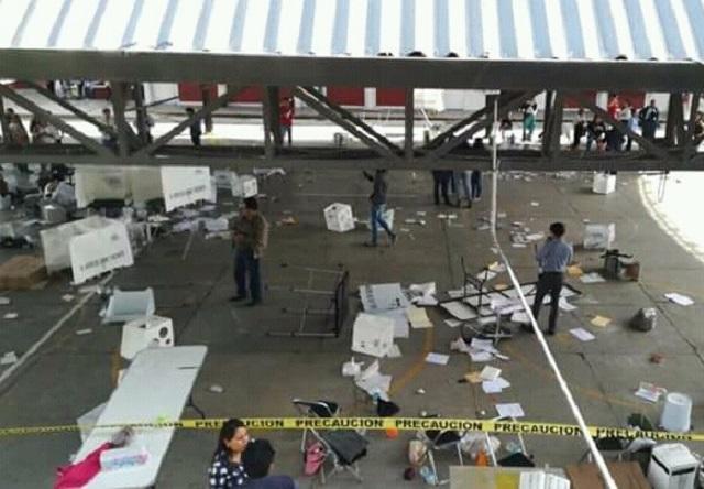 El INE confirma robo de 48 paquetes electorales en Puebla