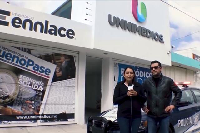 Roban en oficinas de la empresa Unnimedios en Puebla