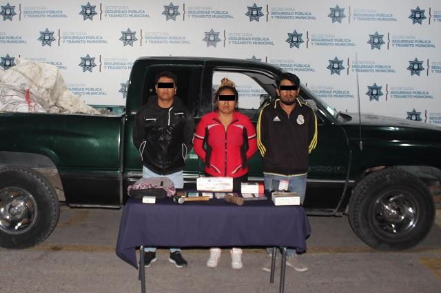 Detuvo SSC a dos por robo a tienda Coppel Torrecillas