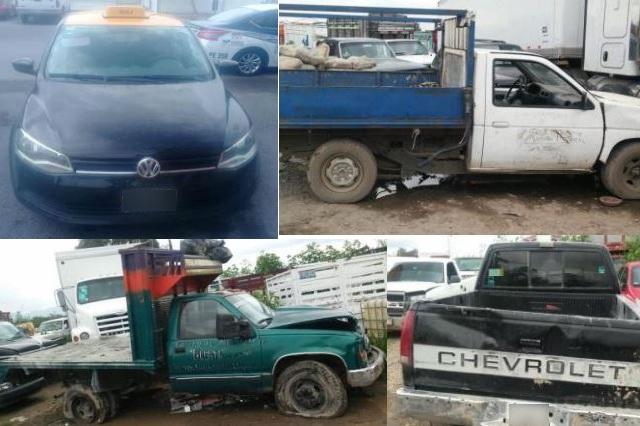 SSP aseguró a tres hombres por el delito de robo y recuperó 5 autos