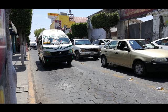 Disminuyen robos en colectivas de Tehuacán