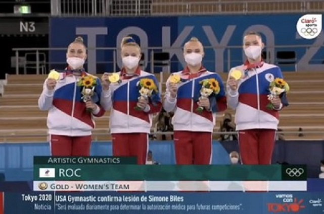 Gimansia rusa se lleva el oro tras salida de Simone Biles