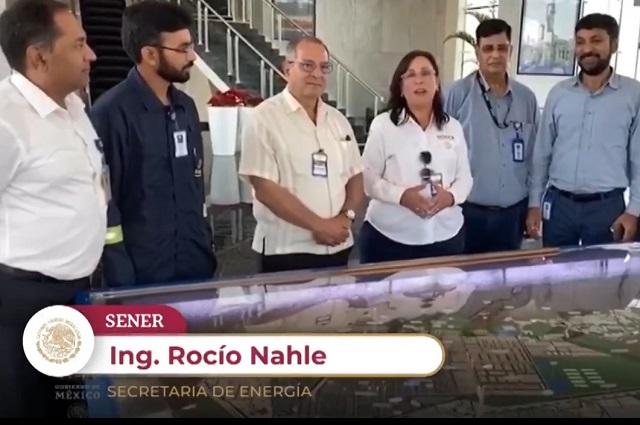 Visita de Nahle a refinería de India, para compararla con Dos Bocas: Sener