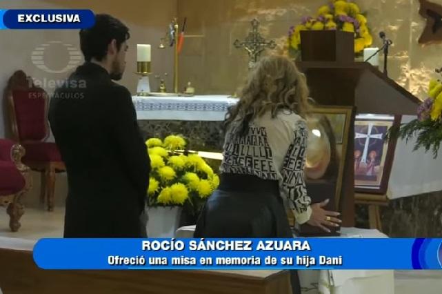 Así fue el funeral de la hija de Roció Sánchez Azuara
