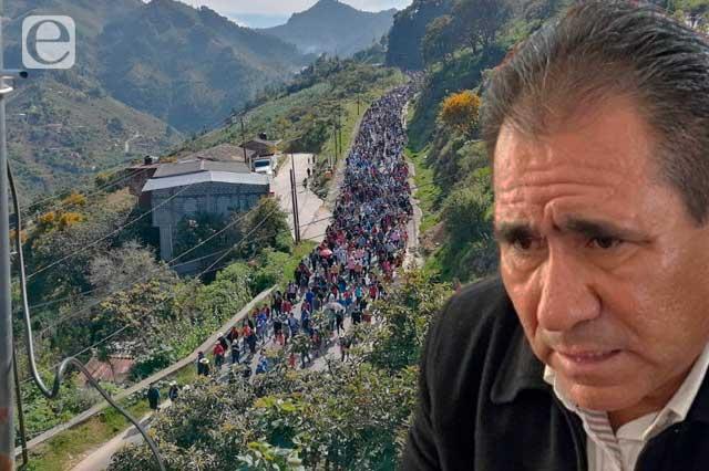 Rodolfo García sigue sin dar la cara al pueblo de Coyomeapan