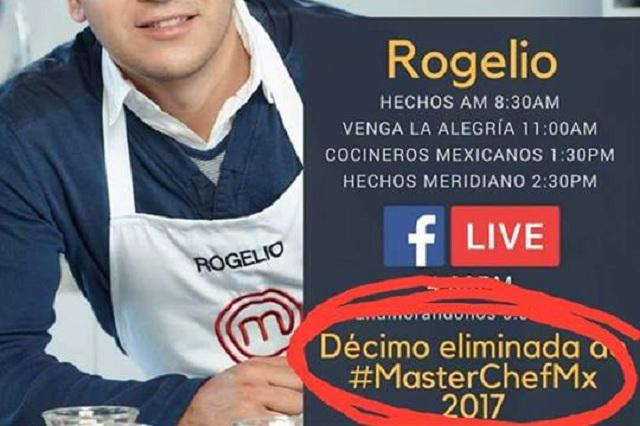 Rogelio eliminada, el error en Facebook de MasterChef del que se burlan