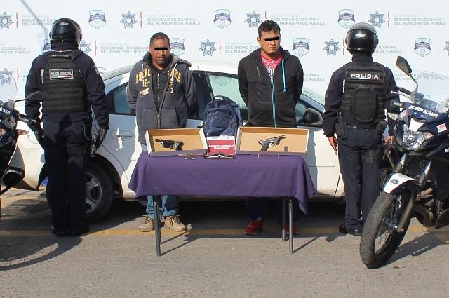 Desarticulan en Puebla banda de robo a transeúnte y en transporte