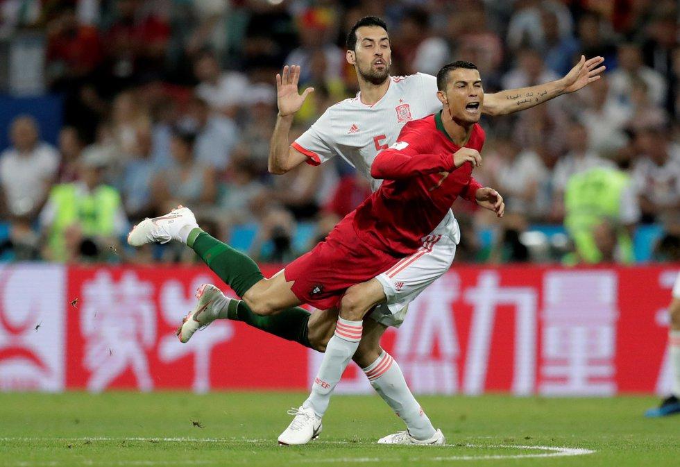 Emotivo 3-3 brindan España y Portugal en Rusia 2018
