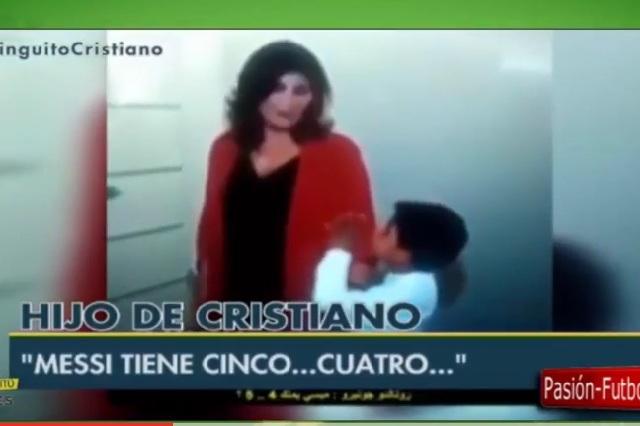Hijo de Cristiano Ronaldo hace enojar a su abuela por Messi