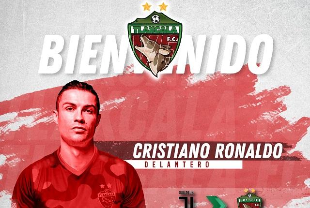 Equipo de futbol Coyotes de Tlaxcala da la bienvenida a Cristiano Ronaldo