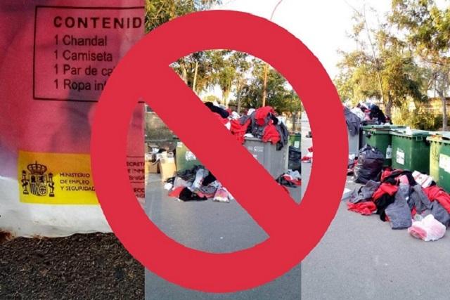 Falso que los migrantes hayan desechado ropa donada