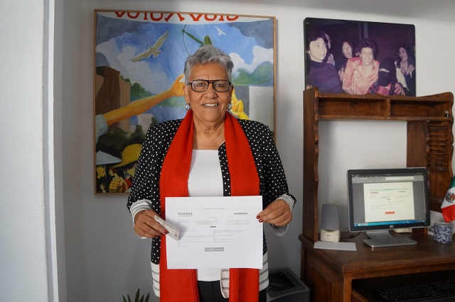 Se registra Rosa Márquez para competir por la candidatura de Morena a alcaldía