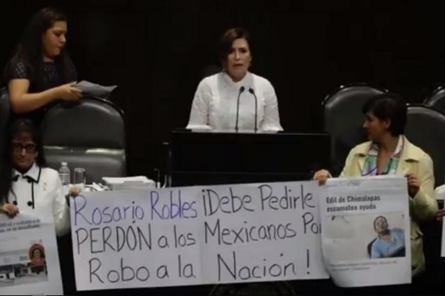 Todo yo, revira Rosario Robles a quienes la acusan de desviar recursos