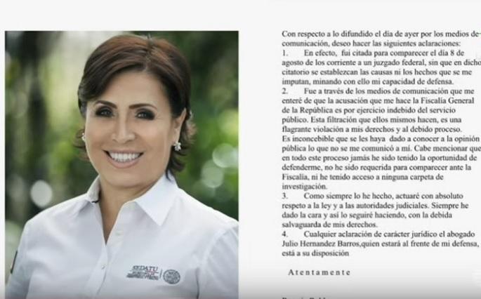 Hacienda bloquea cuentas de Rosario Robles por caso la Estafa Maestra