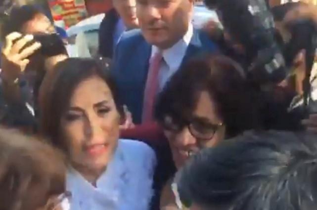 Llega Rosario Robles a audiencia por caso Estafa Maestra