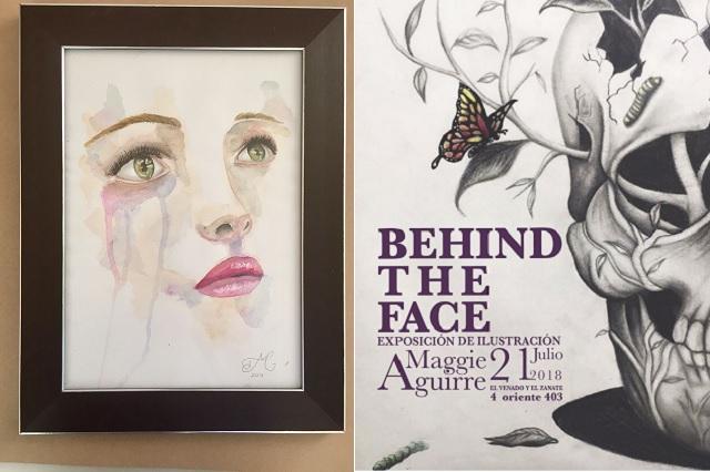 La artista poblana Maggie Aguirre presenta Detrás del Rostro (Behind the Face)