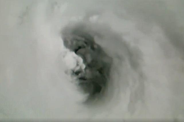 VIDEO Llaman el rostro de la muerte a una cara que se ve en huracán Irma