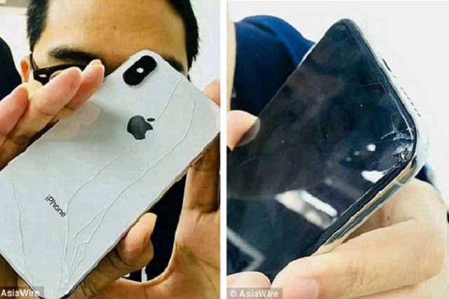291def40159 Este 3 de noviembre salió a la venta el iPhone X y ya se reportaron los  primeros costosos accidentes por parte de algunos compradores, quienes han  visto ...