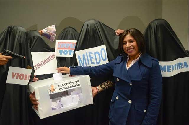 Roxana Luna convoca a que poblanos ejerzan su voto libremente