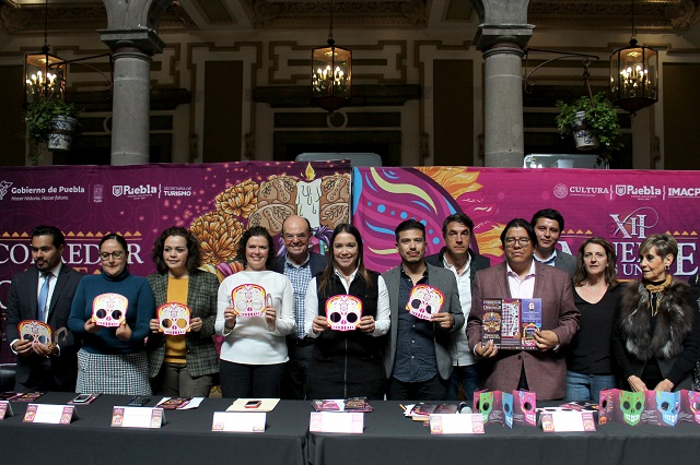 Presentan el programa de Día de Muertos 2019 en la ciudad de Puebla