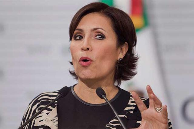 Rosario Robles descarta demandar al diario que la vincula con desvió de recursos