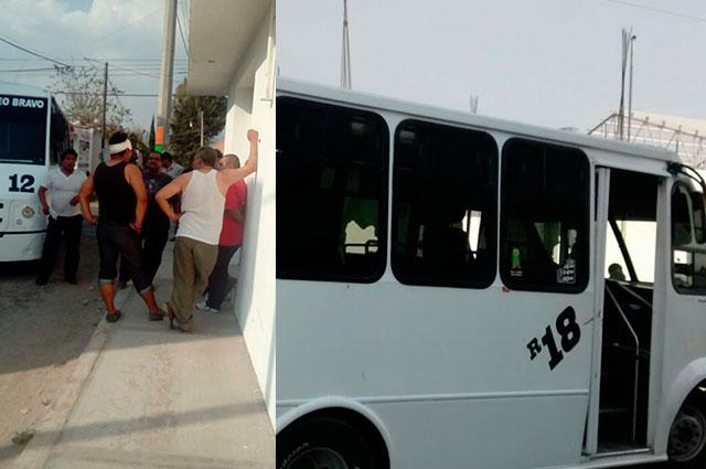 Asaltan unidad de Ruta 18 en el Centro Histórico de Puebla