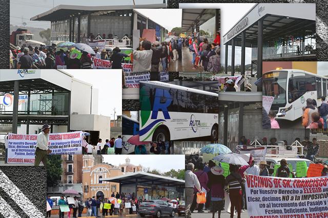 Dominan protestas y caos vial el segundo día de la línea 3 de RUTA