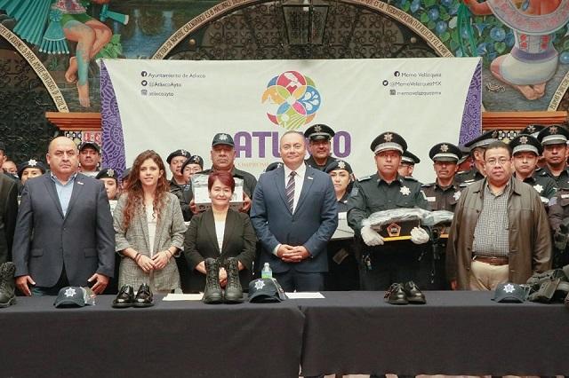 Gobierno de Atlixco entrega uniformes a cuerpos de seguridad pública