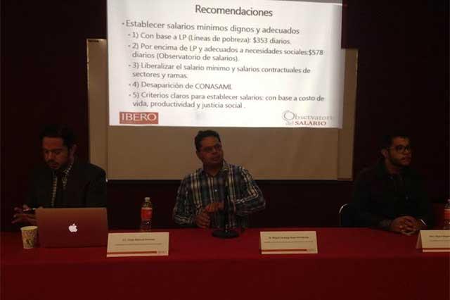 Salario mínimo debe ubicarse en 578 pesos diarios: Observatorio