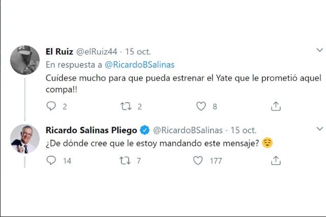 Se siguen burlando de Ricardo Salinas en Twitter