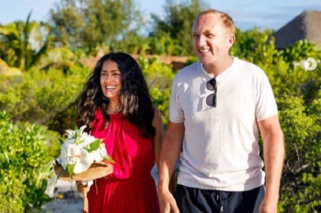 Salma Hayek y su esposo renovaron votos matrimoniales
