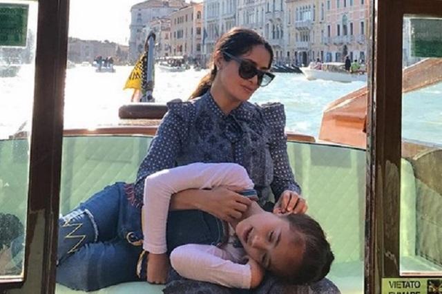 Salma Hayek le da peculiar regalo de cumpleaños a su hija