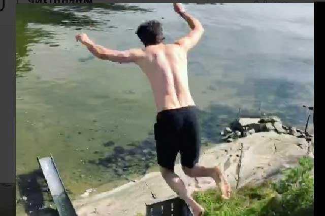 Este salto imposible es el video viral del momento