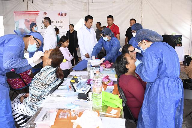Jornadas de salud bucal realiza DIF de Cuautlancingo