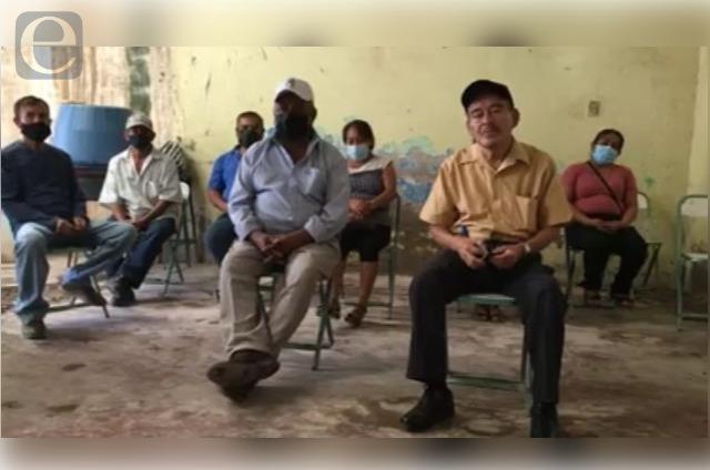 Con plantón exigen fecha para elección en San José Miahuatlán