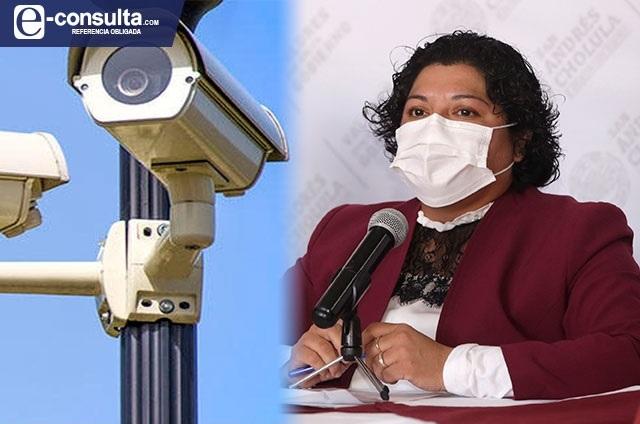 Karina Pérez deja incompleta la instalación de cámaras en Cholula
