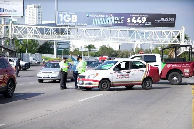 Sancionan a 668 conductores en primera semana del Hoy no circula en Puebla
