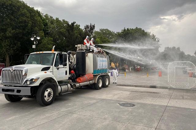 Exhortan en Cuautlancingo a vecinos a sanitizar fraccionamientos
