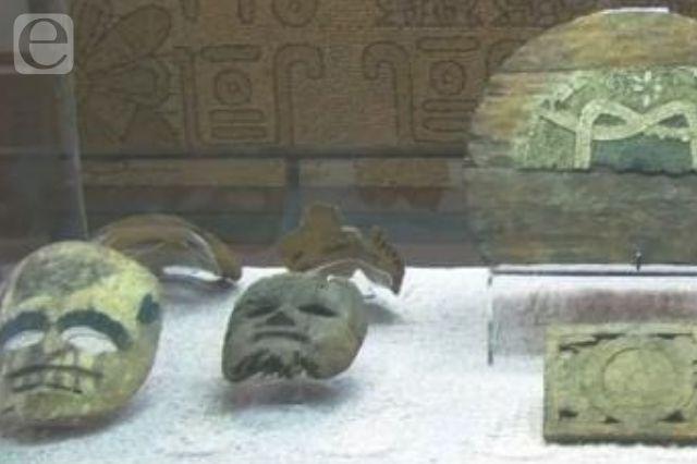 Máscaras halladas en Teloxtoc regresan a Tehuacán en 2022