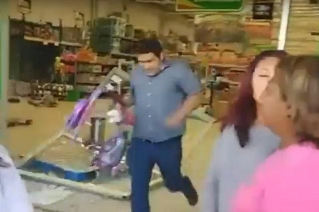 Alistan denuncia contra empleado de Conagua que saqueó Aurrerá