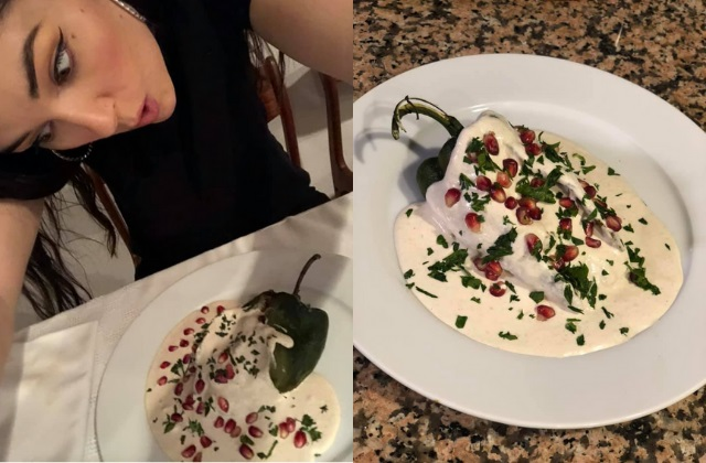 Sasha Grey festeja Independencia con chiles en nogada