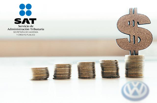 Condona el SAT 56 millones de pesos a Volkswagen