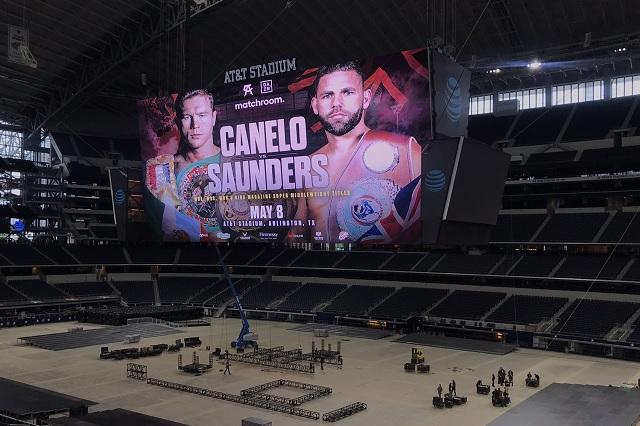 Saunders, ausente en el 'face to face' con 'Canelo'; pide un ring más grande