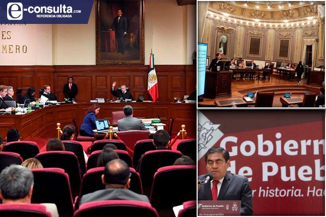 Multas a gobierno y Congreso de Puebla por incumplir con la SCJN