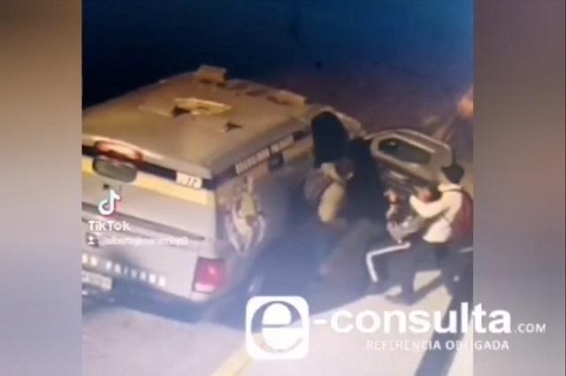 Video: Así se llevaron 6 mdp de camioneta de valores en Puebla